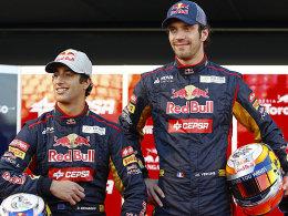 Daniel Ricciardo und Jean-Eric Vergne (v.li.).