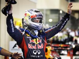 Husarenritt: Red-Bull-Pilot Sebastian Vettel pflügte in Abu Dhabi gleich zweimal durchs Feld.