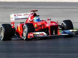 Schafft er das Formel-1-Wunder? Ferrari-Pilot Fernando Alonso muss 14 Zähler auf Vettel gutmachen.