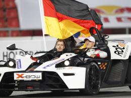 Coole Sieger: Michael Schumacher (re.) und Sebastian Vettel siegten zum sechsten Mal beim Race of Champions.