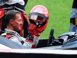 Im Halbfinale war Schluss: Formel-1-Rekordweltmeister Michael Schumacher scheiterte an Romain Grosjean.