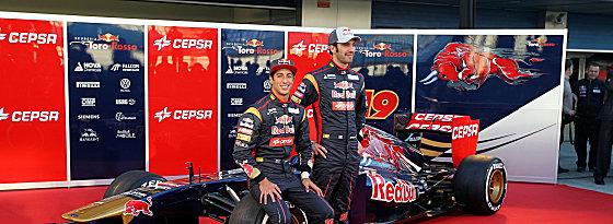 Eric Vergne (re.) und Daniel Ricciardo