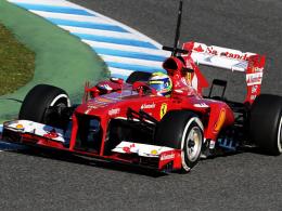 Tolle Tagesbestzeit in Jerez: Ferrari-Pilot Felipe Massa.