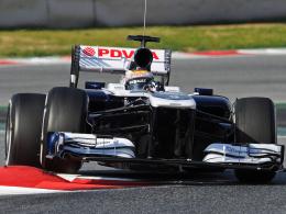 Erste Ausfahrt: Der Venezolaner Pastor Maldonado testet im neuen Williams FW 35 in Barcelona.