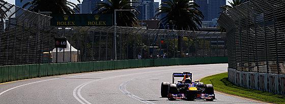 Beste Bedingungen, beste Zeit: Weltmeister Sebastian Vettel im Albert Park.