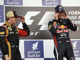 Bald Teamkollegen? Kimi Räikkönen und Sebastian Vettel (re.).