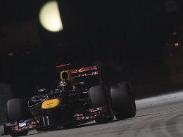"""Wieder der """"König der Nacht""""? Sebastian Vettel im Red Bull."""