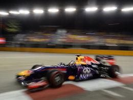 Sebastian Vettel in Singapur