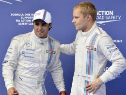 Bleiben beide bei Williams: Felipe Massa (li.) und Valtteri Bottas.