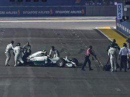 Kein gutes Wochenende: Nico Rosberg in Singapur.