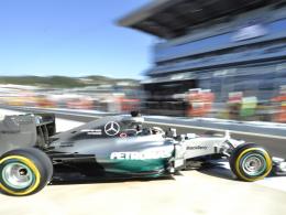 WM-Führender: Mercedes-Pilot Lewis Hamilton war am Freitagnachmittag Schnellster in Sotschi.