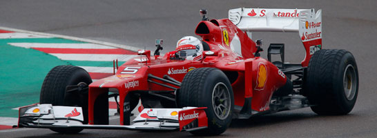 Sebastian Vettel testet schon bei Ferrari.