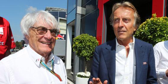 Formel-1-Gesch�ftsf�hrer Bernie Ecclestone und Ex-Ferrari-Vorstandschef Luca di Montezemolo.