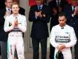 Gef�hlswelten: Nico Rosberg strahlt in der F�rstenloge, Lewis Hamilton kann es nicht fassen.