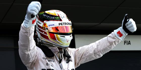 """""""K�nig von England"""": Mercedes-Pilot Lewis Hamilton triumphierte zum dritten Mal in Silverstone."""