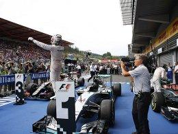 Der Triumphator von Spa: Lewis Hamilton feierte einen weiteren Grand-Prix-Sieg.