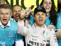 In fantastischer Form: Mercedes-Pilot Nico Rosberg gewann sein drittes Rennen in Serie.