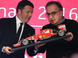 Premier-Minister Matteo Renzi und Fiat-Chef Sergio Marchionne