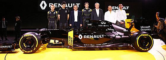 Fahrer- und Auto-Präsentation: Renault ist als Werksteam zurück.
