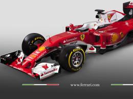 """Eine neue """"rote Göttin""""? Der Ferrari SF 16-H soll Mercedes an der Spitze ablösen."""