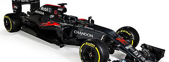Ganz in schwarz: Der neue McLaren MP4-31.