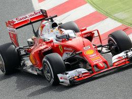 Fix unterwegs: Sebastian Vettel kam in Barcelona ordentlich ins Rollen.