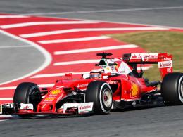 Schnellster am Donnerstagvormittag: Ferrari-Pilot Kimi Räikkönen.