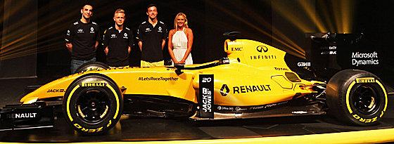 Ganz in Gelb: Der neue Renault-Bolide.