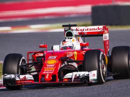 """Weltmeisterauto? Sebastian Vettel taufte seinen neuen Ferrari """"Margherita""""."""