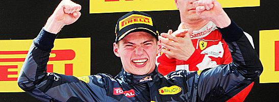 Was für ein Triumph: Max Verstappen ist mit 18 Jahren jüngster Grand-Prix-Sieger der Formel 1.