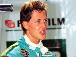 Das Deb�t: Michael Schumacher am 25. August 1991 in der Jordan-Box.