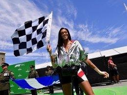 Winnie Harlow winkt Rennen zu früh ab - Vettel