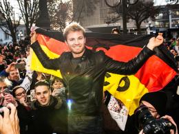 Rosberg in Wiesbaden begeistert empfangen