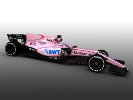 Force India startet 2017 in Pink