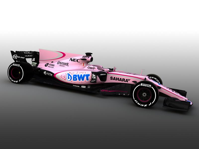 Formel 1: Mondseer Unternehmen BWT sorgt bei Force India für pinken Anstrich