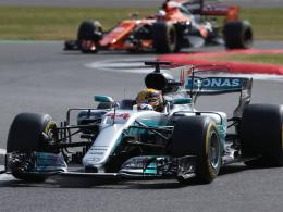 Hamilton einen Wimpernschlag vor Vettel