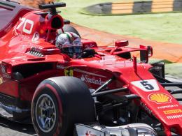 Vettel im dritten Training verbessert