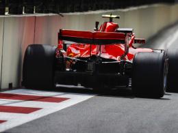 3. Training: Vettel und Räikkönen rahmen Hamilton ein