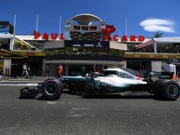 Mercedes-Duo im ersten Frankreich-Training vorn
