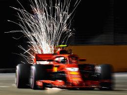 Bestzeit für Räikkönen - Vettel baut Crash