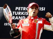 König der Türkei: Ferrari-Pilot Felipe Massa feiert seinen dritten Sieg in Folge in Istanbul.