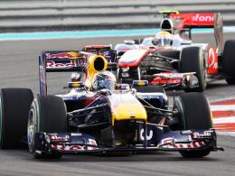 Weltmeister! Sebastian Vettel fing mit seinem Red Bull beim letzten Grand Prix die Konkurrenz ab.