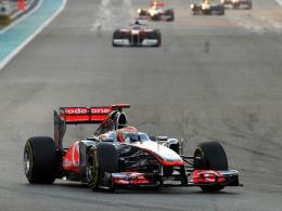 Dritter Saisonsieg: McLaren-Mercedes-Pilot Lewis Hamilton triumphiert erstmals in Abu Dhabi.