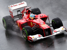 Polesetter: Ferrari-Pilot Fernando Alonso war Bester im Qualifying.