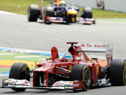 Dritter Saisonsieg: Fernando Alonso gewann im Ferrari auf dem Hockenheimring.