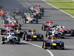 Start- und Zielsieg: Polesetter Sebastian Vettel zog dem Feld von Beginn an weg.
