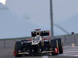 Der Sieger von Abu Dhabi: Kimi Räikkönen im Lotus.