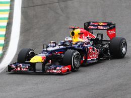 Titel-Hattrick! Red-Bull-Pilot Sebastian Vettel reichte ein sechster Platz in Sao Paulo zum dritten WM-Titel in Folge.