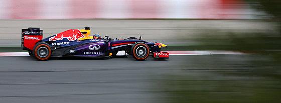 Lag im letzten Training knapp vor Rivale Alonso: Sebastian Vettel wurde Fünfter.