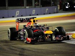 Glanz in der Nacht von Singapur: Sebastian Vettel holt erneut Startplatz 1.